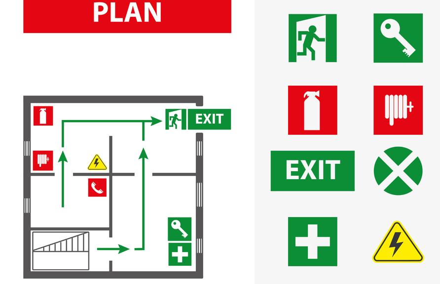 Evacuatieschema opmaken